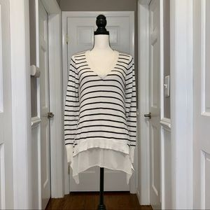 Central Park West long sleeve striped sweater